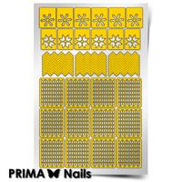 Трафарет для дизайна ногтей PrimaNails. Зима