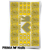Трафарет для дизайна ногтей PrimaNails. Зимний сюрприз