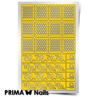 Трафарет для дизайна ногтей PrimaNails. Змейка