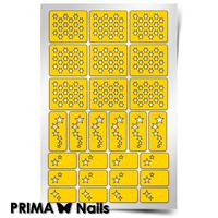 Трафарет для дизайна ногтей PrimaNails. Звездочет