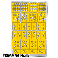 Трафарет для дизайна ногтей PrimaNails. Звезды